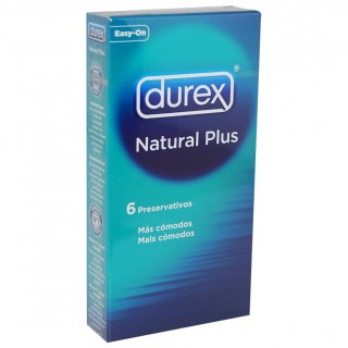 DUREX NATURAL PLUS EASY ON PRESERVATIVOS 6 U