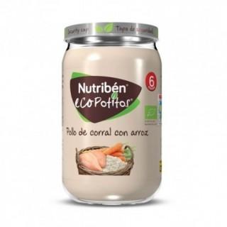 NUTRIBEN ECOPOTITOS POLLO DEL CORRAL CON ARROZ 235 G