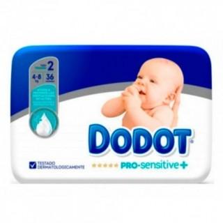 PAÑAL INFANTIL DODOT PRO SENSITIVE T- 2 4-8 KG 36 U