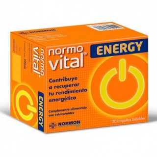 NORMOVITAL ENERGY AMPOLLAS BEBIBLES 20 AMPOLLAS