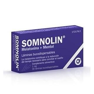 SOMNOLIN MELATONINA + MENTA 1.9 MG 30 LAMINAS BUCODISPERSABLES
