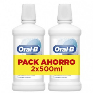 ORAL-B ENJUAGUE BUCAL ENCIAS & ESMALTE CARE MENTA FRESCA 2 X 500 ML